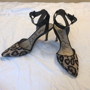 Sam Edelman Leopard Print Ankle Strap Heel
